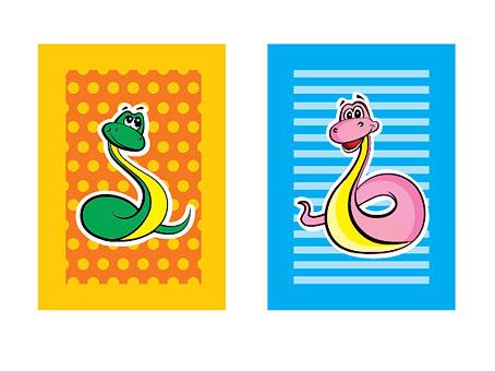 рисунки змей: